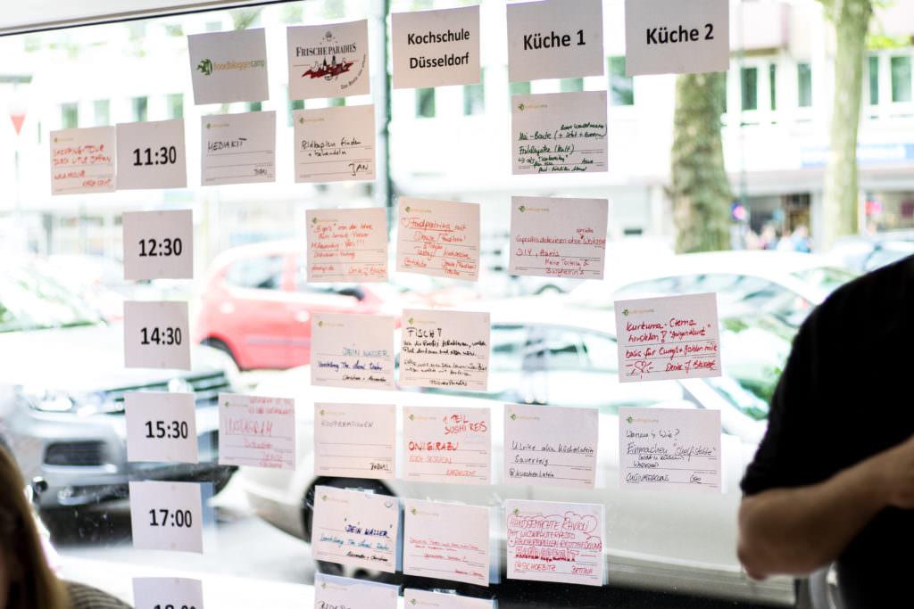 Ein volles Session Board mit spannenden Talks, Diskussionen und Workshops