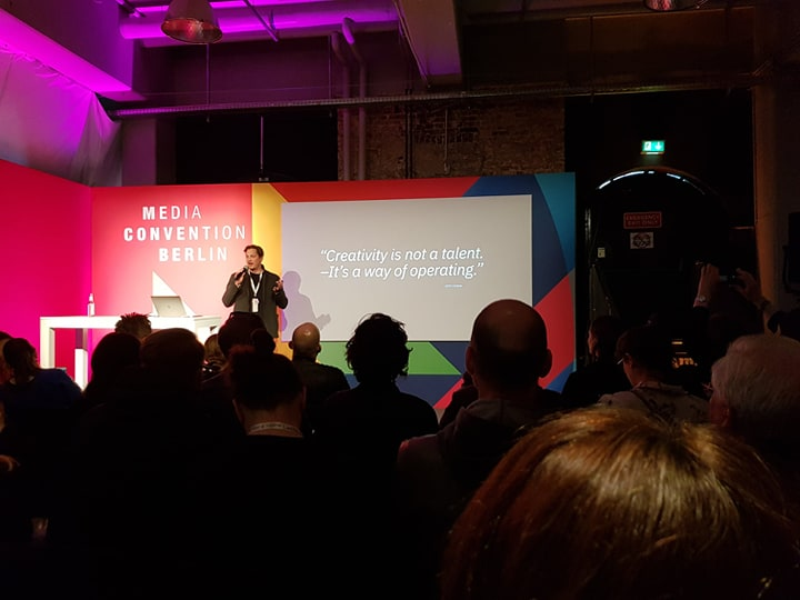 Marko Thorhauer von IBM bei seinem spannenden Vortrag über künstliche Intelligenz im Media Cube - danke für die vielen neuen Insights!