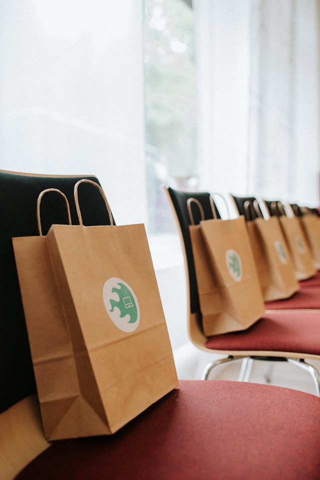 Eine prall gefüllte Goodiebag durfte natürlich auch beim Corporate Blog Barcamp nicht fehlen!
